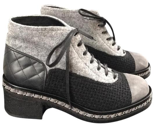 Preload https://img-static.tradesy.com/item/20467708/chanel-greyblack-quilted-cap-toe-combat-flannel-suede-tweed-ankle-41-bootsbooties-size-us-11-regular-0-1-540-540.jpg