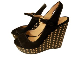 Tory Burch Polka Dot Wedge Black Wedges
