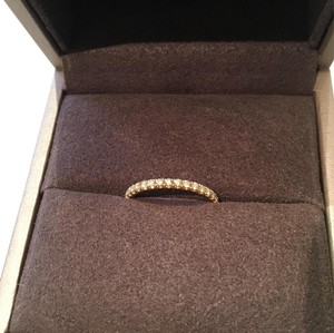 Chaumet diamond pave stackable wedding band in gold