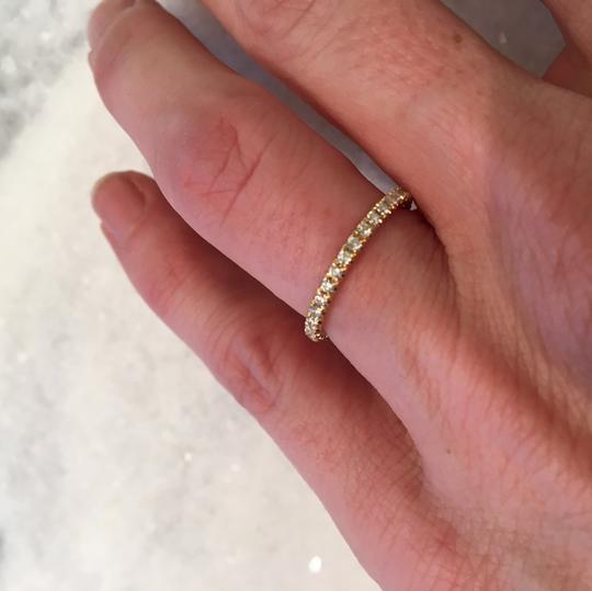 Chaumet diamond pave stackable wedding band in gold Image 3