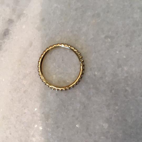 Chaumet diamond pave stackable wedding band in gold Image 5