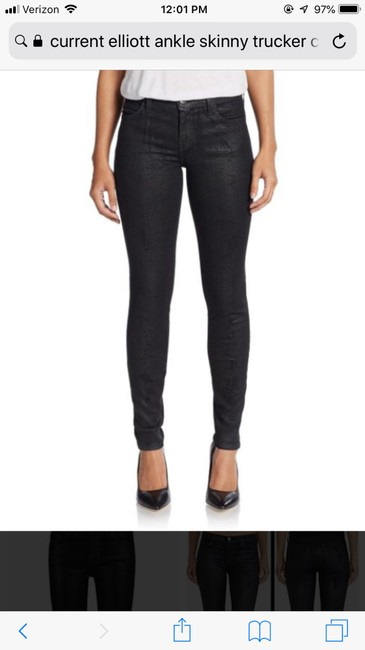Current/Elliott Ankle Trucker Coating Skinny Jeans-Coated Image 6
