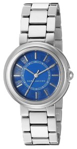 Marc Jacobs NIB Courtney Stainless Steel Silver & Blue Women's Bracelet Watch MJ3467