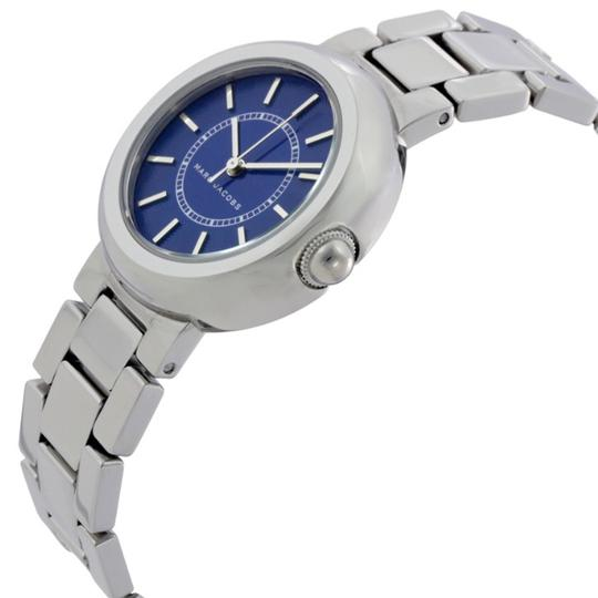 Marc Jacobs NIB Courtney Stainless Steel Silver & Blue Women's Bracelet Watch MJ3467 Image 2