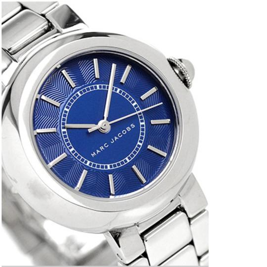 Marc Jacobs NIB Courtney Stainless Steel Silver & Blue Women's Bracelet Watch MJ3467 Image 3