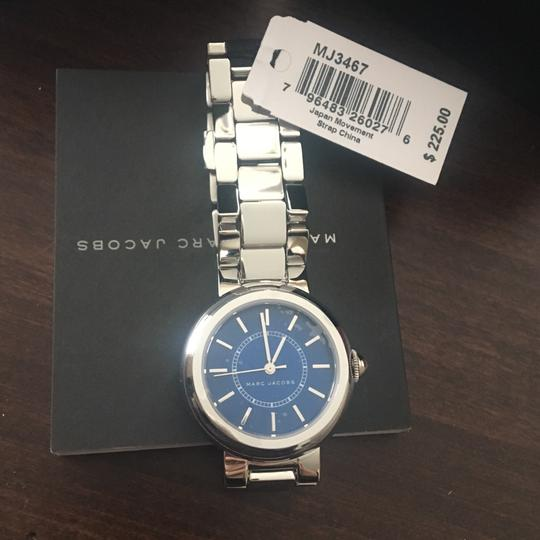 Marc Jacobs NIB Courtney Stainless Steel Silver & Blue Women's Bracelet Watch MJ3467 Image 5