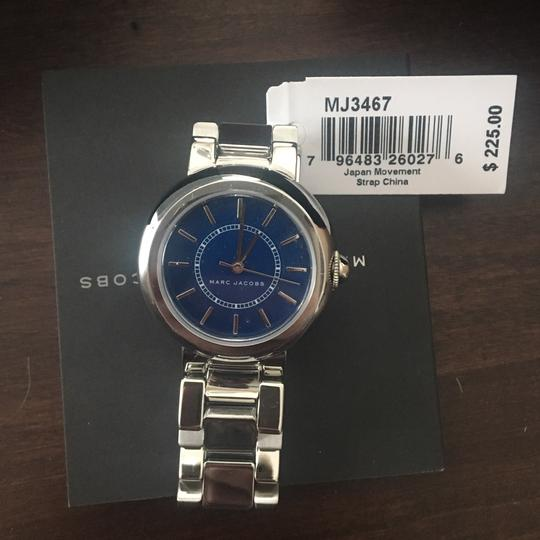 Marc Jacobs NIB Courtney Stainless Steel Silver & Blue Women's Bracelet Watch MJ3467 Image 8