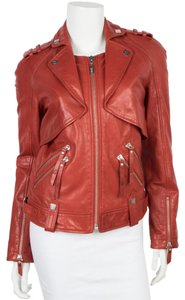Karl Lagerfeld Red Leather Jacket