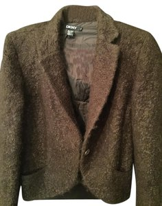 DKNY Brown wool mohair Blazer