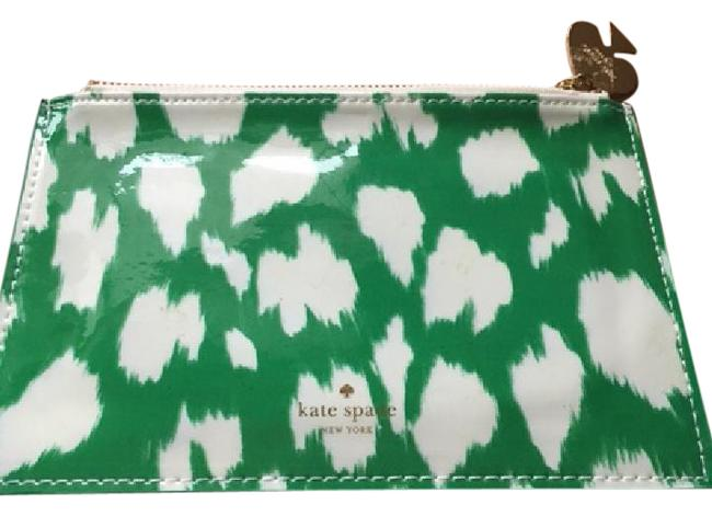 Item - Green and White Pencil Pouch