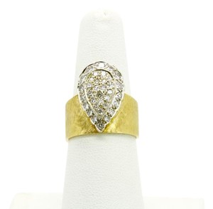 1CT (Approximately) 35 Diamonds Ring 14K Yellow Gold,SIZABLE, SIZE 7