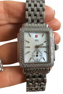 Michele michelle mother of pearl deco diamond watch