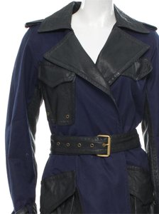 Marc Jacobs Leather Cotton Trench Trench Coat
