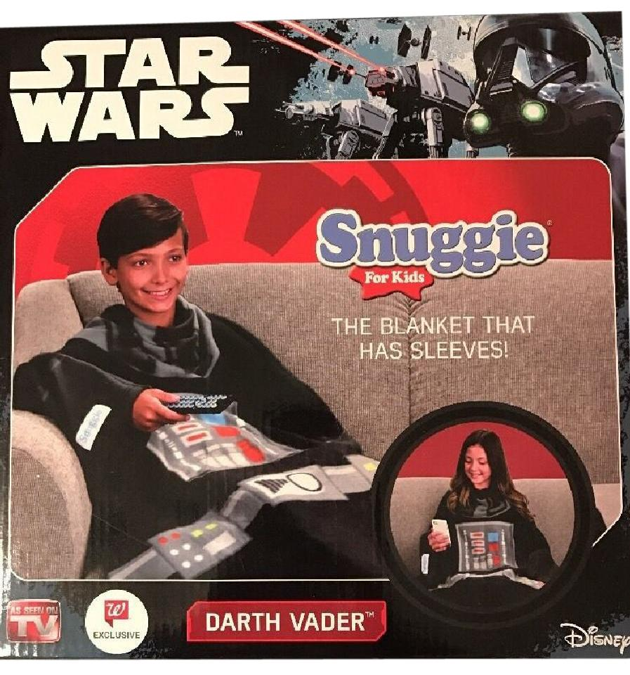 Disney Black Star Wars Snuggie Darth Vader Blanket 54\