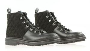 Chanel Ankle Military Rubber Black Boots