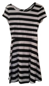 dELiA*s short dress black and white Bold Stripe on Tradesy