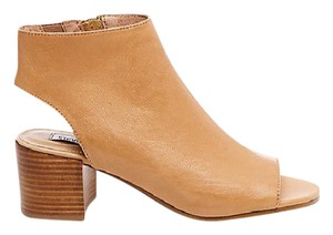 Steve Madden Leather Mule Peep Toe Camel Boots