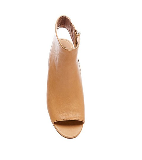 Steve Madden Leather Mule Peep Toe Camel Boots Image 4