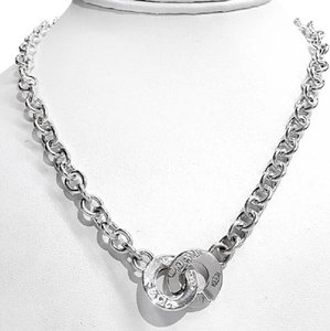 Tiffany & Co. CLASSIC!!! Tiffany & Co. 1837 Collection Interlocking Circles Sterling Silver Necklace 17