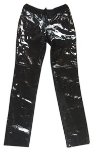 Chanel Leather Vintage Skinny Pants Black