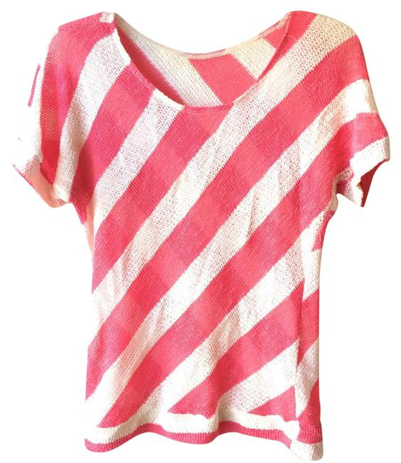Preload https://img-static.tradesy.com/item/20468357/pink-and-white-stripe-blouse-size-4-s-0-1-650-650.jpg
