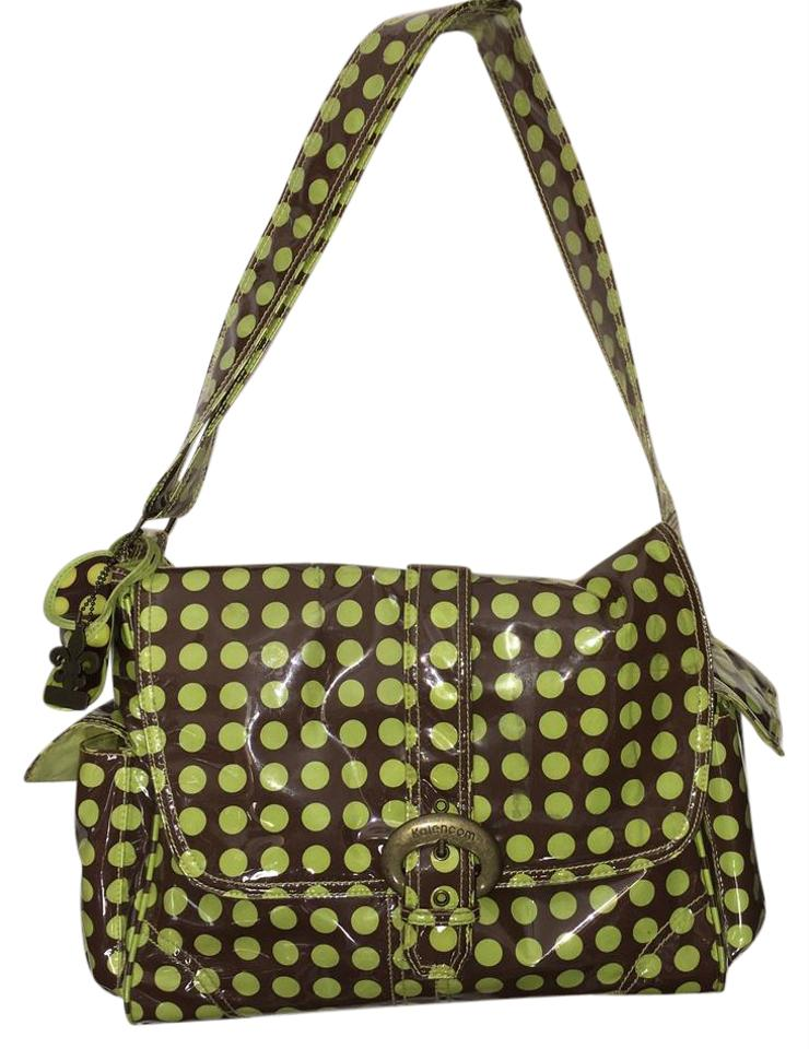 Diaper Bag By Kalencom Lime Green Brown