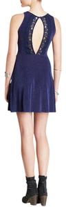 Free People short dress Navy Lady Jane Fit & Flare on Tradesy