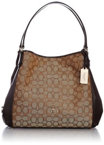 Coach Leather Edie 31 Signature Shoulder Bag