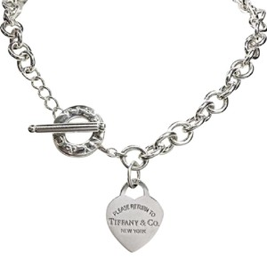 Tiffany & Co. RARE!! Tiffany & Co. Return to Tiffany Heart Tag Toggle Necklace Sterling Silver 16