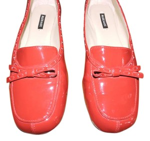Alex Marie Bow Patent Leather Red Flats