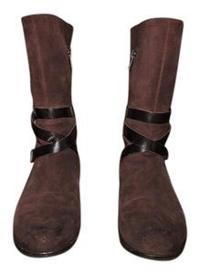 UGG Australia Leather Strap Brown Boots