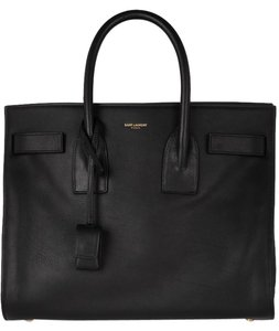 Saint Laurent Sac De Jour Small Ysl Tote in Black