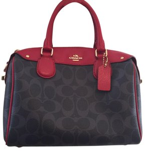 Coach Satchel in Blue/Red