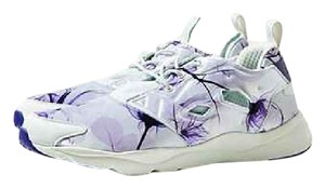 Reebok Stylish Comfortable white and lavender floral Athletic