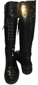 Chanel Holy Grail Combat Black Boots