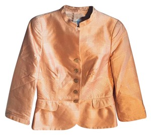 Armani Collezioni orange and beige Jacket