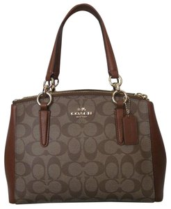 Coach New With Tag Satchel in khaki Saddle