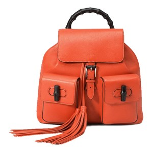 Gucci Leather Bamboo New Backpack
