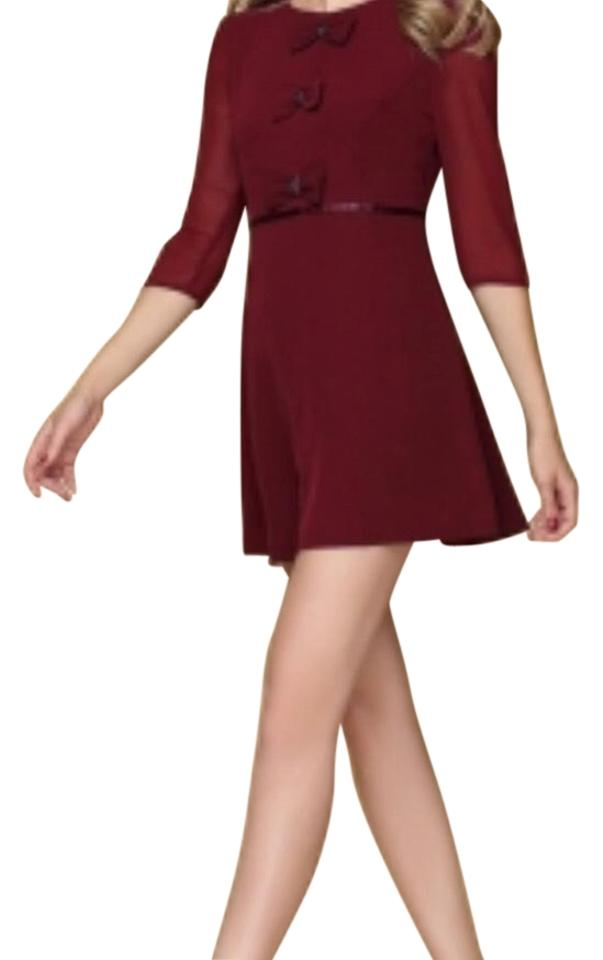 d91ef6a3f Ted Baker London finna bow Detail Above Knee Cocktail Dress Size 6 ...