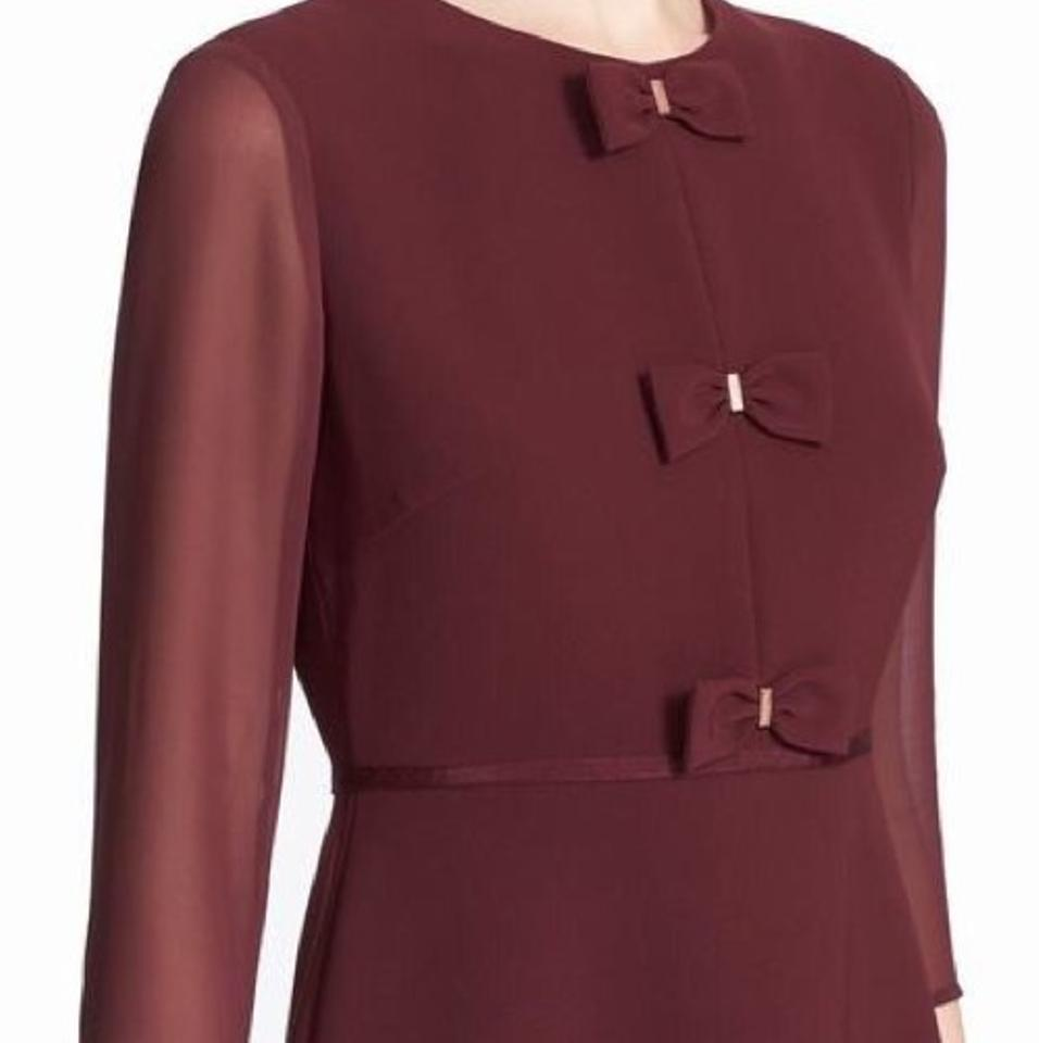 2cb1b24a3af0e2 Ted Baker London finna bow Detail Above Knee Cocktail Dress Size 6 ...