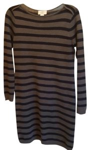 Ann Taylor LOFT short dress Gray and navy striped on Tradesy