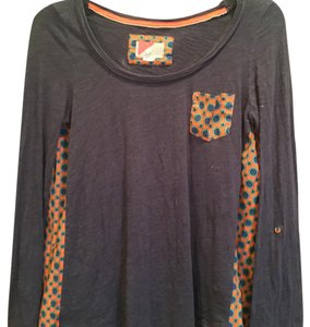 Anthropologie Top Gray orange