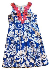 Lilly Pulitzer short dress Blue, white on Tradesy