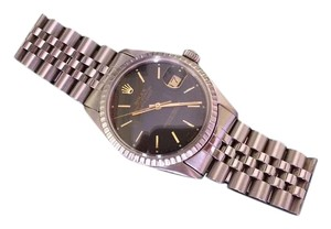 Rolex Rolex Datejust 36mm Mens SS/Black Watch Jubilee