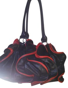 Other Satchel in black red