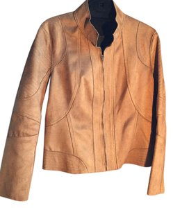 Yansi Fugel toasty brown Leather Jacket