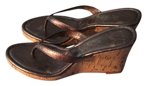 Coach pewter/shines grey Sandals