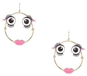 Kate Spade imagination monster hoop earrings.