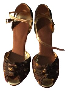 Betsey Johnson brown and gold Formal