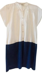 Madewell short dress White and Navy Blue Colorblock on Tradesy